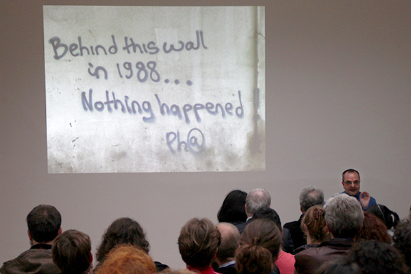 Tony Chakar, The Eighth Day, 2008–. Performance view, Stedelijk Museum (Bureau Amsterdam), June 25th, 2011.