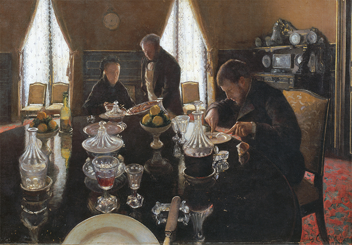 "Gustave Caillebotte, Luncheon, 1876, oil on canvas, 20 1⁄/2 × 29 1/2"". © Comité Caillebotte"