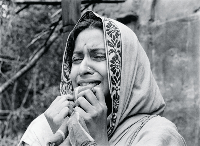 Still from Satyajit Ray's Pather Panchali, 1955, 35 mm, black-and-white, sound, 125 minutes. Apu's mother, Sarbajaya (Karuna Banerjee).