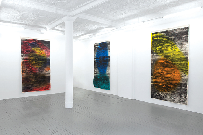 "View of ""Kamau Amu Patton,"" 2015. From left: Untitled, 2014; Untitled, 2014; Untitled, 2014."