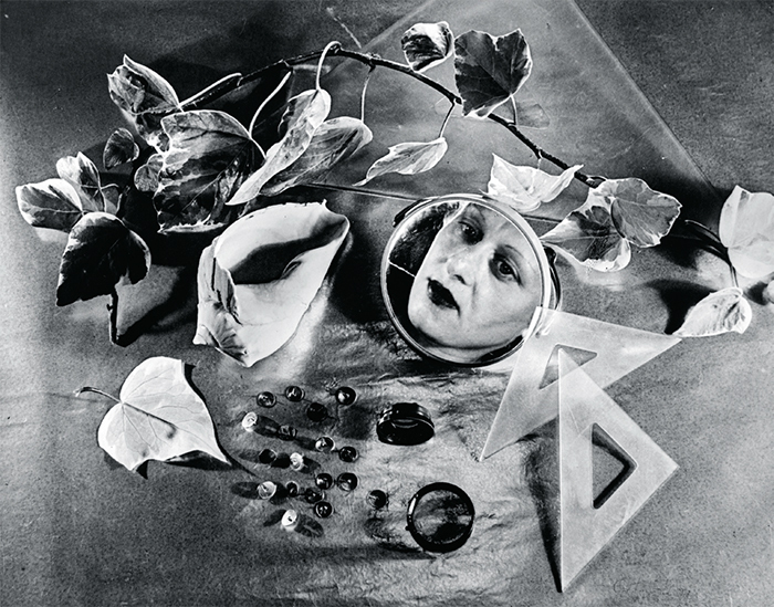 "Grete Stern, Autorretrato (Self-Portrait), 1943, gelatin silver print, 8 3/4 × 11"". © Estate of Horacio Coppola."
