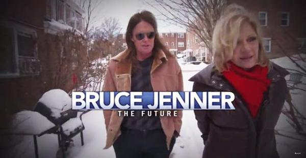 Bruce Jenner: The Interview. Publicity still from an episode of 20/20 aired on ABC on April 24, 2015. Bruce Jenner and Diane Sawyer.