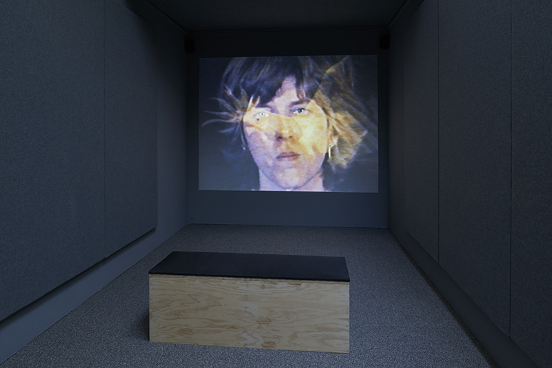 Julia Heyward, This Is My Blue Period, 1977, video, color, sound, 31 minutes 28 seconds. Installation view.