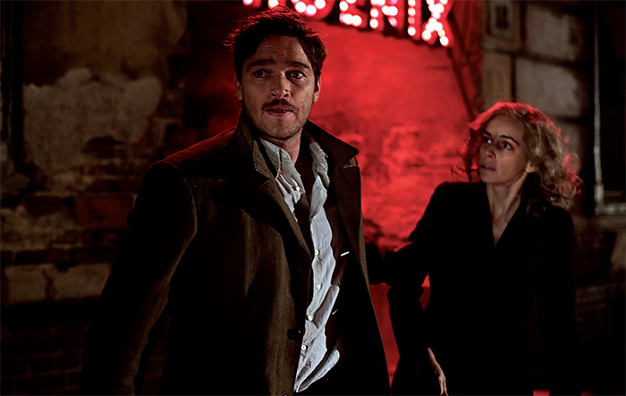 Christian Petzold, Phoenix, 2014, 35 mm transferred to digital video, color, sound, 98 minutes. Johnny (Ronald Zehrfeld) and Nelly (Nina Hoss).