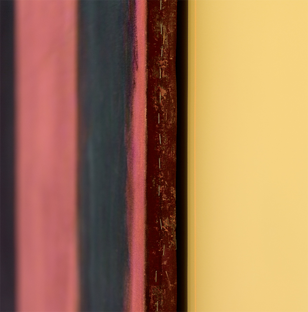 "Mark Rothko, Panel Four (Harvard Mural) (detail), 1962, egg tempera and distemper on canvas, 8' 9"" × 15'. As seen with colored digital projection.  © Kate Rothko Prizel and Christopher Rothko/Artists Rights Society (ARS), New York. © President and Fellows of Harvard College."