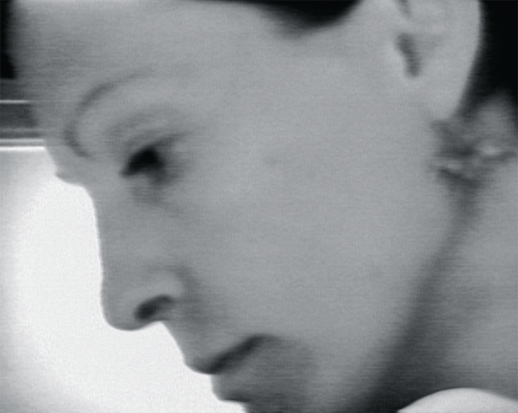 Still from Joan Jonas's Vertical Roll, 1972, video, black-and-white, sound, 19 minutes 38 seconds. Photo: Electronic Arts Intermix (EAI), New York.