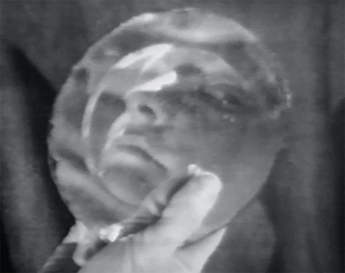 Still from Joan Jonas's Organic Honey's Visual Telepathy, 1972, video, black-and-white, sound, 17 minutes 24 seconds. Photo: Electronic Arts Intermix (EAI), New York.