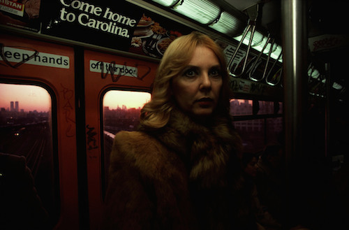 "Bruce Davidson, Subway (Woman in Fur Coat), 1980, archival pigment print, 20 x 24""."