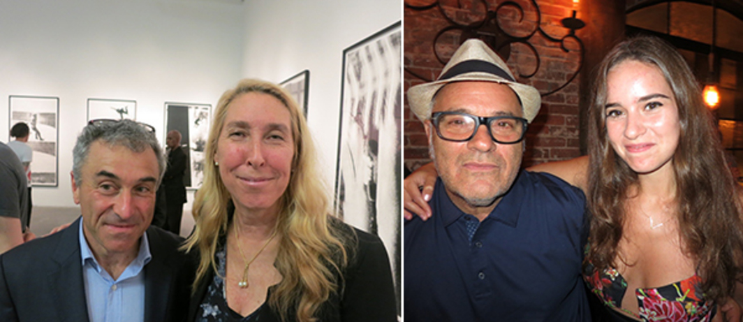 Left: The Contemporary Austin director Louis Grachos and New Museum director Lisa Phillips. Right: Filmmaker Amos Poe and Lucy Poe.