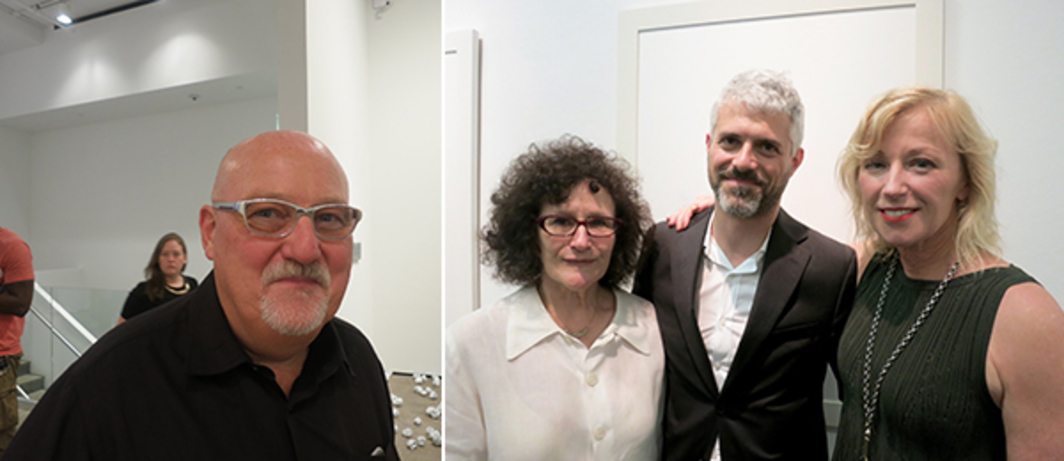 Left: Dealer Sean Kelly. Right: Writer Lynne Tillman, MoMA PS1 curator Peter Eleey, and artist Cindy Sherman.