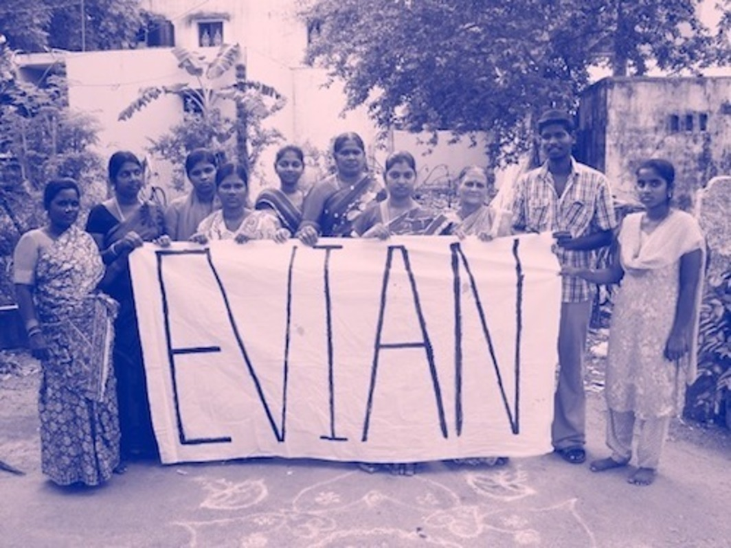"Eileen Maxson, Evian Is Naive Spelled Backwards, 2015, double-sided inkjet print, 36"" x 13' 1/3""."