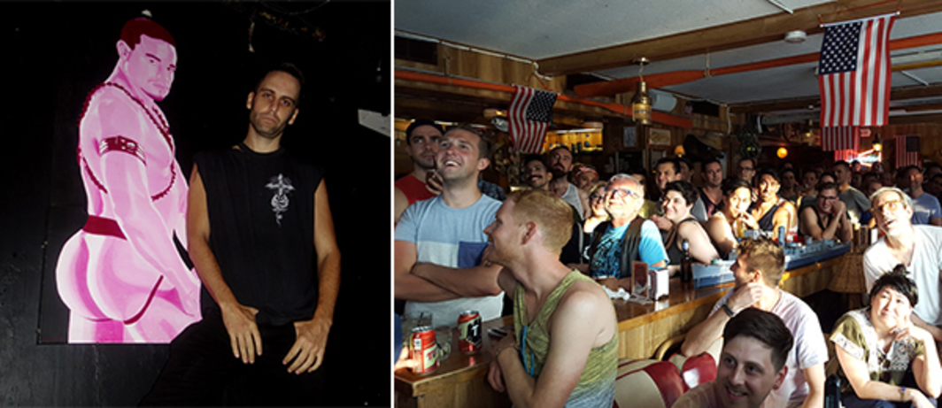 Left: Artist Ryan McNamara at the Eagle. (Photo: Alex Fialho) Right: Rusty Knot audience. (Photo: JD Samson)