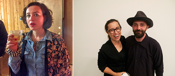 Left: Artist Lucy Stein. Right: Artists Kathryn Andrew and Piero Golia.