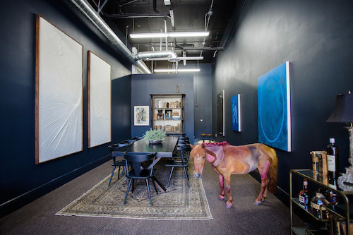 "View of ""A Painted Horse by Joe Sola