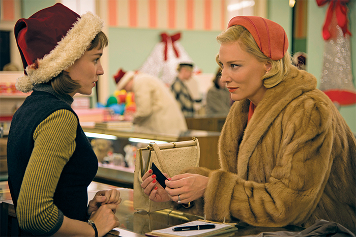 Todd Haynes, Carol, 2015, 35 mm, color, sound, 118 minutes. Therese Belivet (Rooney Mara) and Carol Aird (Cate Blanchett).