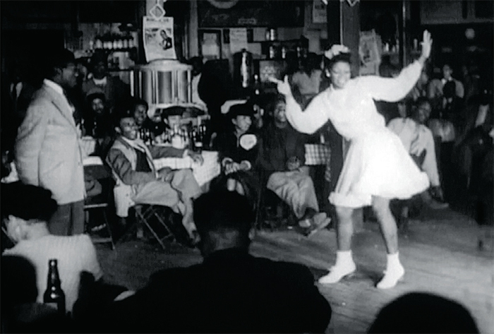 Thom Andersen, Juke: Passages from the Films of Spencer Williams, 2015, digital video, black-and-white, sound, 30 minutes. Frame from Spencer Williams's Juke Joint, 1947.