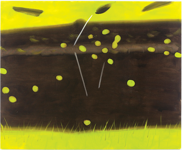 "Alex Katz, Black Brook 18, 2014, oil on linen, 96 × 120""."
