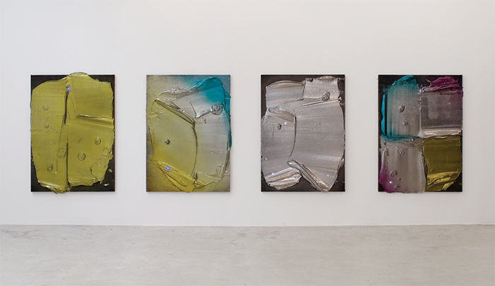 "View of ""Florian and Michael Quistrebert,"" 2015. From left: Overlight S2E3, 2015; Overlight S2E4, 2015; Overlight S2E5, 2015; Overlight S2E6, 2015. From the series ""Overlight,"" 2013–."