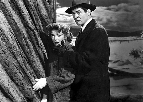 Nicholas Ray, On Dangerous Ground, 1951, 35 mm, black-and-white, sound, 82 minutes. Mary Malden and Jim Wilson (Ida Lupino and Robert Ryan).