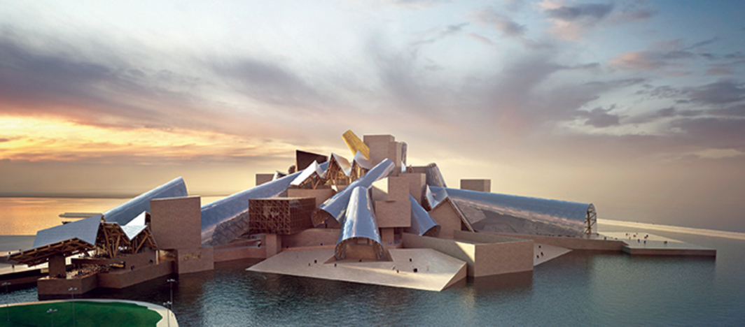 Frank Gehry, Guggenheim Abu Dhabi, anticipated completion 2017. Rendering.