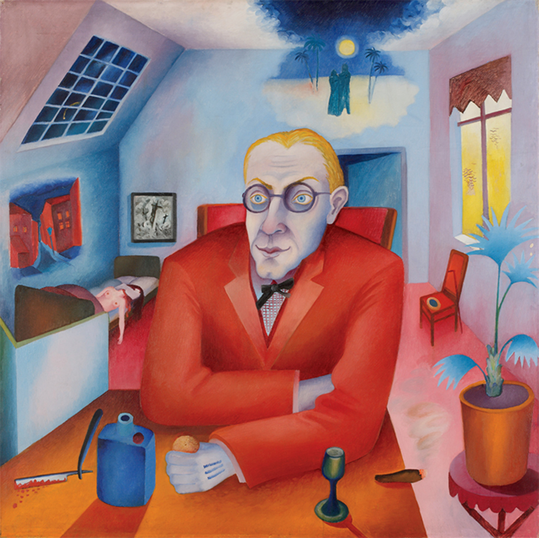 "Heinrich Maria Davringhausen, Der Träumer (The Dreamer), 1919, oil on canvas, 46 7/8 × 47 5/8"". © Reneta Davringhausen."