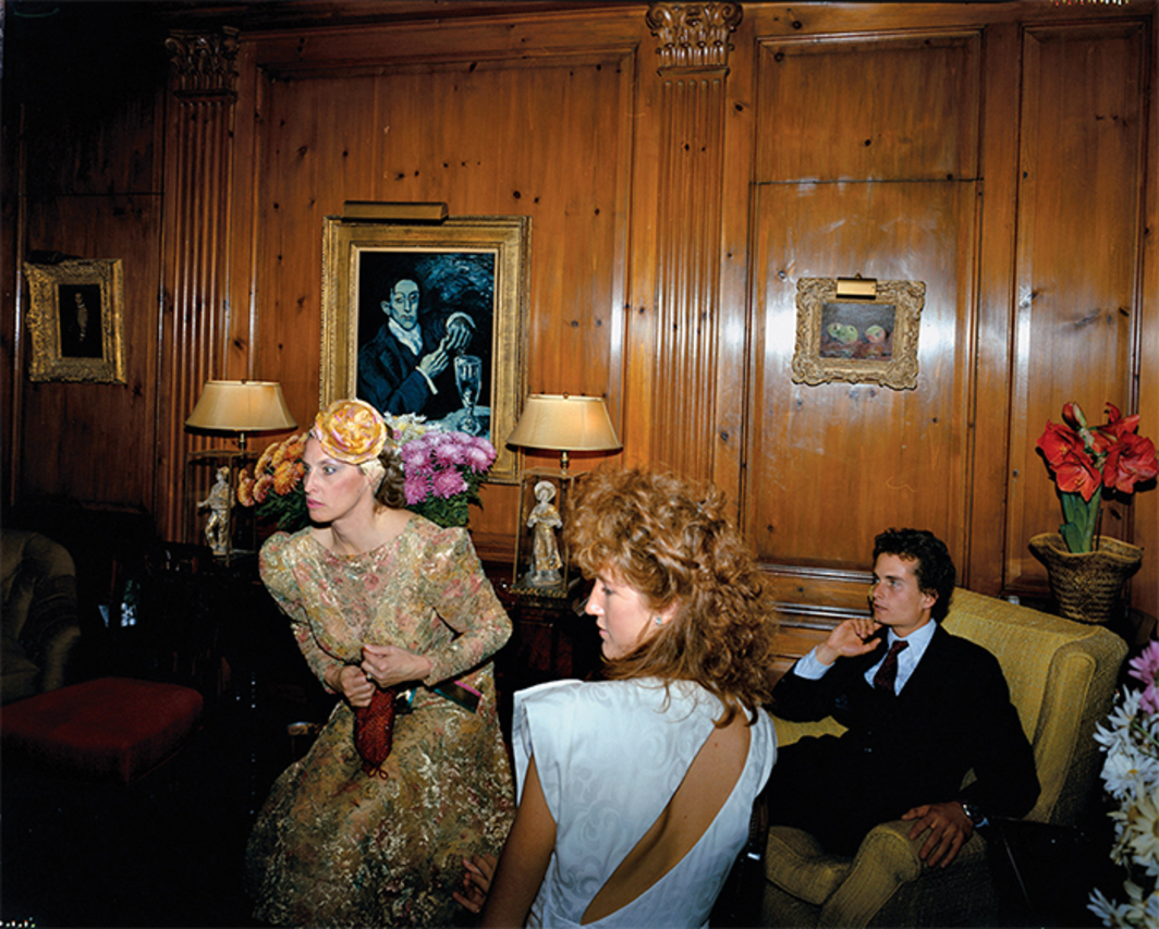"Tina Barney, The Reception, 1985, C-print, 48 × 60""."