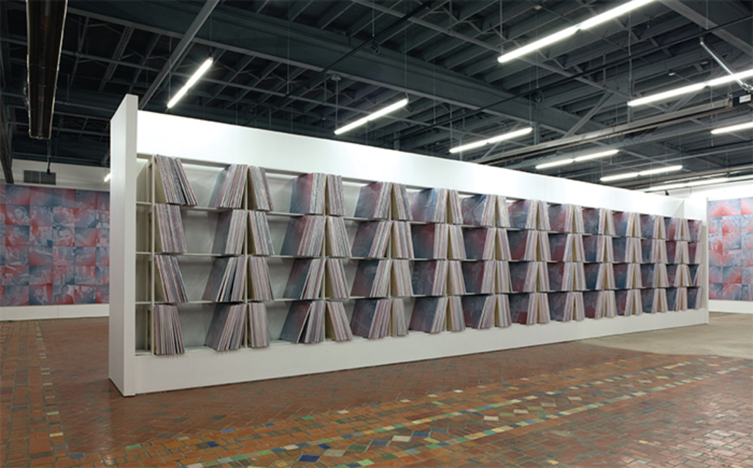 Rob Pruitt, The Obama Paintings, 2009–17, acrylic on 2,922 canvases (when completed). Installation view, 2015. Photo: Corine Vermeulen.
