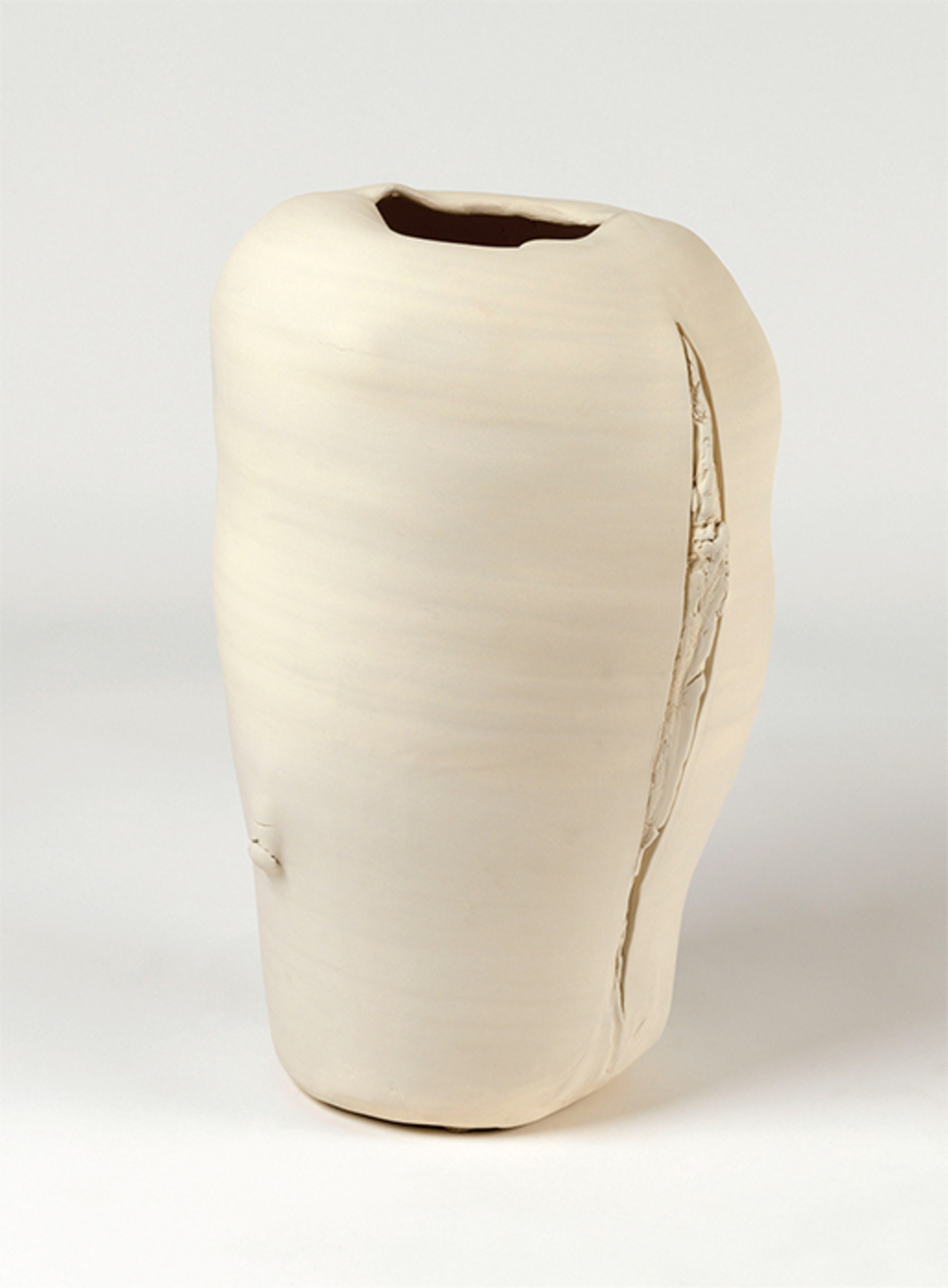 "Nathalie Khayat, Untitled, 2015, unglazed porcelain, 22 7/8 × 13 3/8 × 13 3/8""."
