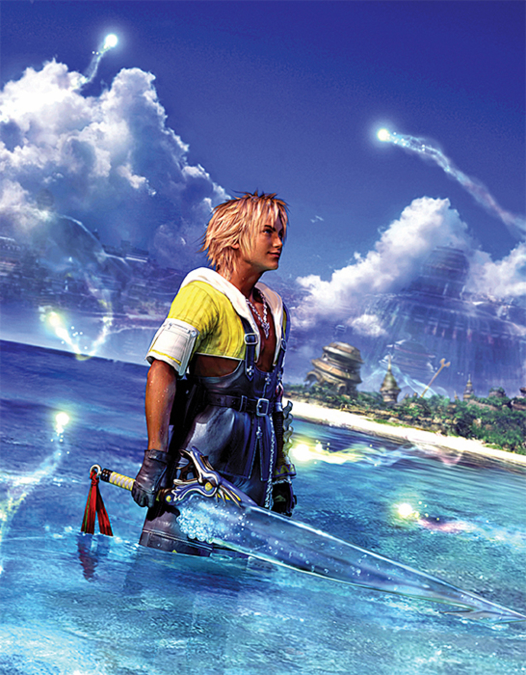 *Promotional image from Squaresoft's _Final Fantasy X_, 2001.* Tidus.