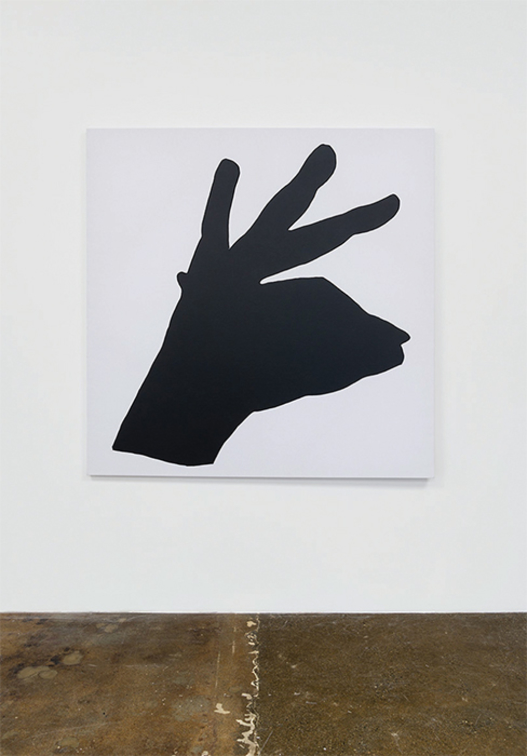 "Kate Costello, Pinch drawing, 2015, fabric appliqué, 54 × 54""."