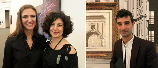 Left: Dealers PIlar Corrias and Silvia Squaldini. Right: Dealer Nicky Verber.