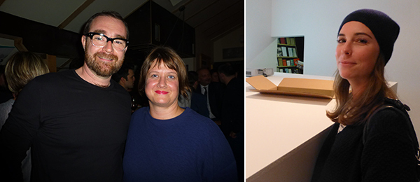 Left: Artist Kristian Kožul and WHW's Sabina Sabolović. Right: Kontakt Collection's Hephzibah Druml.