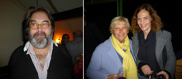 Left: Dealer Georg Kargl. Right: Collector Neda Young and artist Andreja Kulunčić.