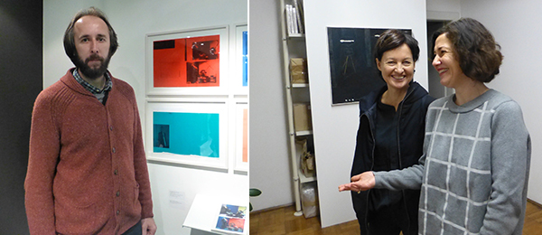 Left: Artist Miodrag Manojlović. Right: Kontakt Collection's Kathrin Rhomberg with WHW's Nataša Ilić.