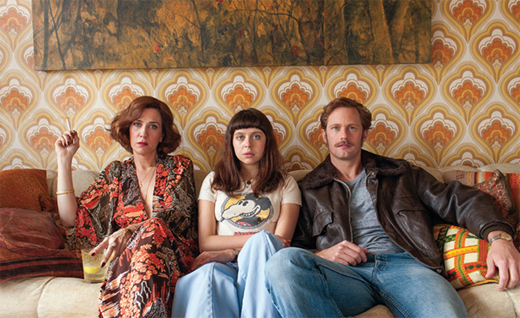 Marielle Heller, The Diary of a Teenage Girl, 2015, digital video, color, sound, 101 minutes. From left: Charlotte Goetze (Kristen Wiig), Minnie Goetze (Bel Powley), and Monroe (Alexander Skarsgård).