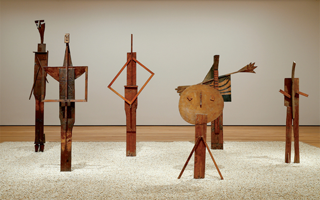"View of ""Picasso Sculpture,"" 2015–16, Museum of Modern Art, New York, 2015. The Bathers, 1956. Photo: Chandra Glick. All works by Pablo Picasso © Estate of Pablo Picasso/Artists Rights Society (ARS), New York."