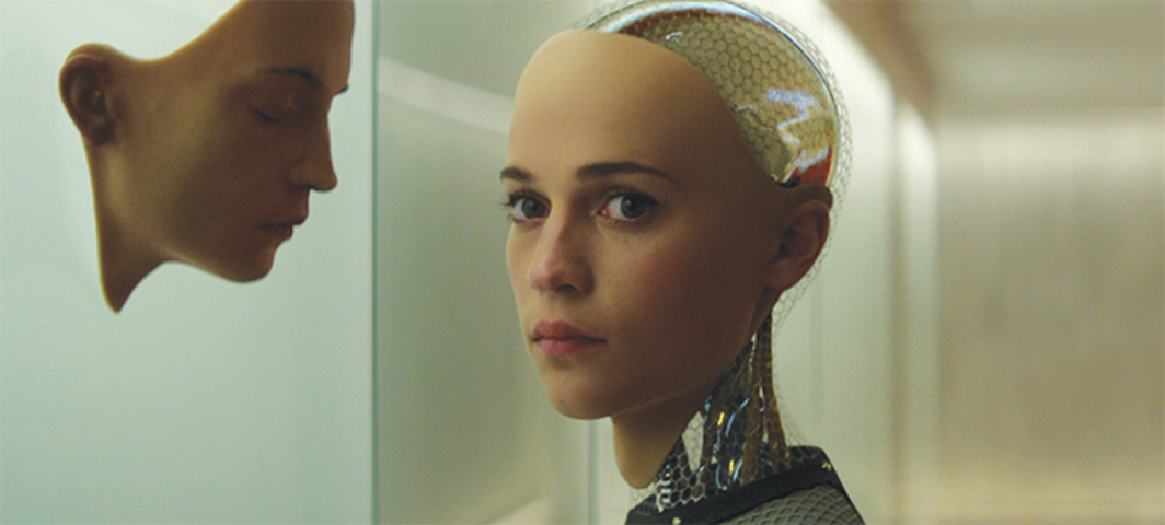 Alex Garland, Ex Machina, 2015, digital video, color, sound, 108 minutes. Ava (Alicia Vikander).