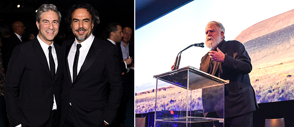 Left: LACMA director Michael Govan with filmmaker Alejandro G. Iñárritu. (Photo: Stefanie Keenan/Getty Images) Right: Artist James Turrell. (Except where noted, all photos: BFAnyc.com)