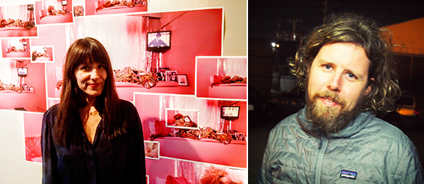 Left: Artist Jen DeNike. Right: Artist Ry Rocklen. (Photos: Andrew Berardini)