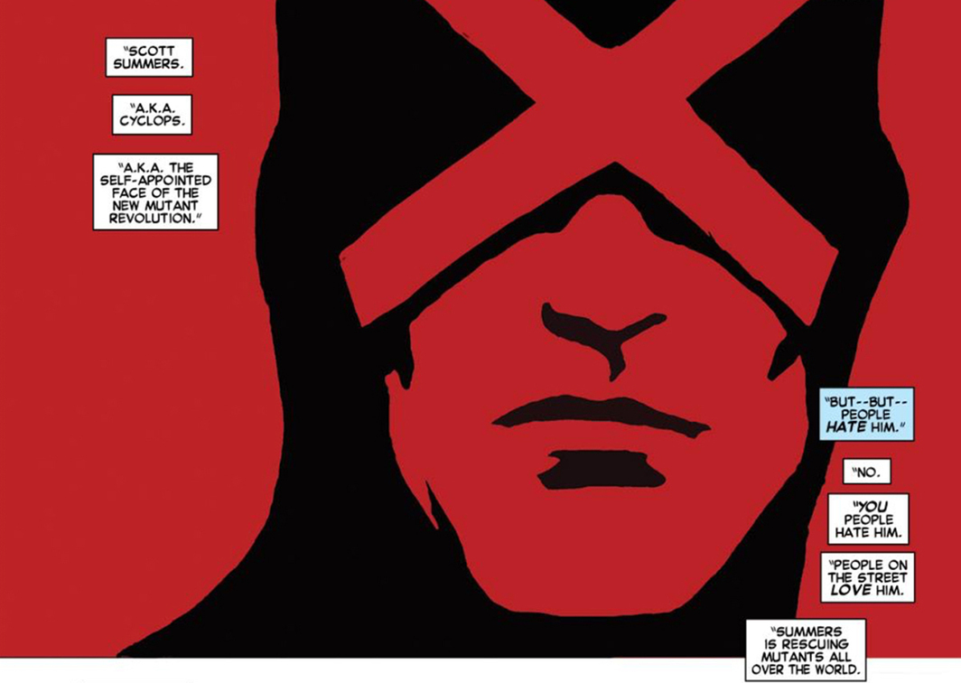 Page detail from Uncanny X-Men #1 (Marvel, 2013).