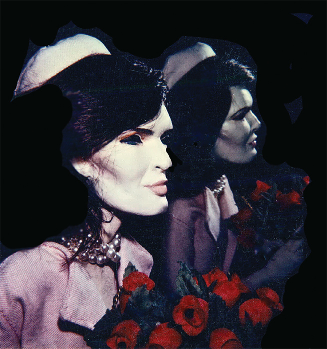 "Greer Lankton, Double Jackie, 1985, Polaroid, 3 1/8 × 4 1/8""."