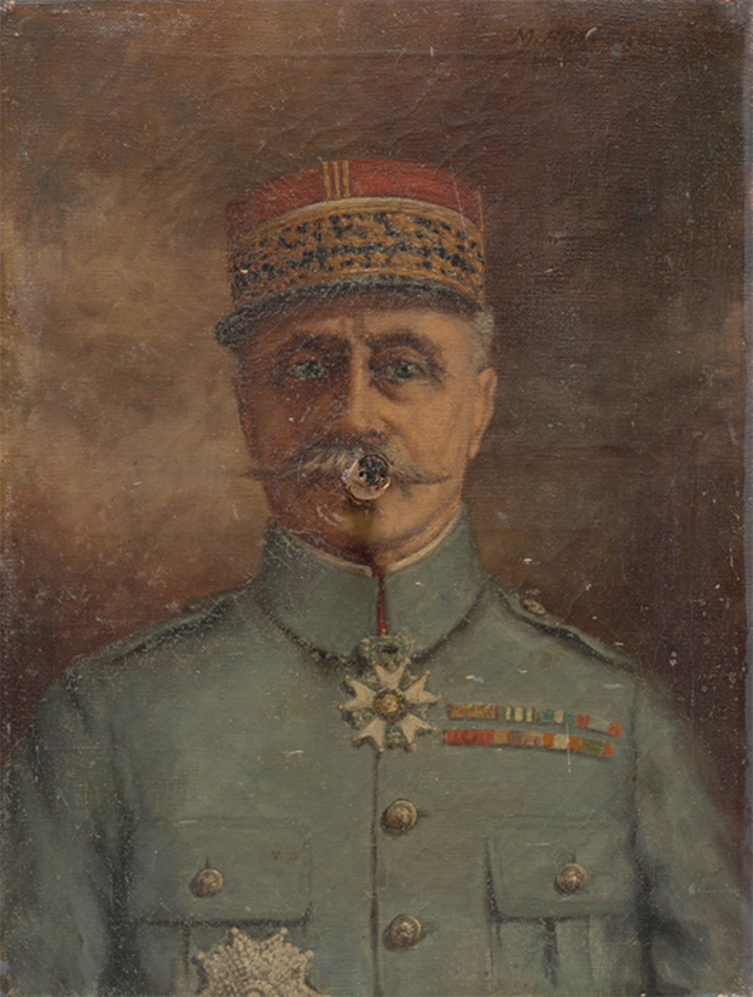 "Marcel Broodthaers, General with Cigar, 1970, found oil painting, cigar, 15 3/4 × 11 7/8 × 2 3/4"". © Estate of Marcel Broodthaers/Artists Rights Society (ARS), New York/SABAM, Brussels."