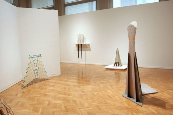 "View of ""Diane Simpson: Sculpture + Drawing 1978–2009,"" Chicago Cultural Center, 2010. Photo: Diane Simpson."