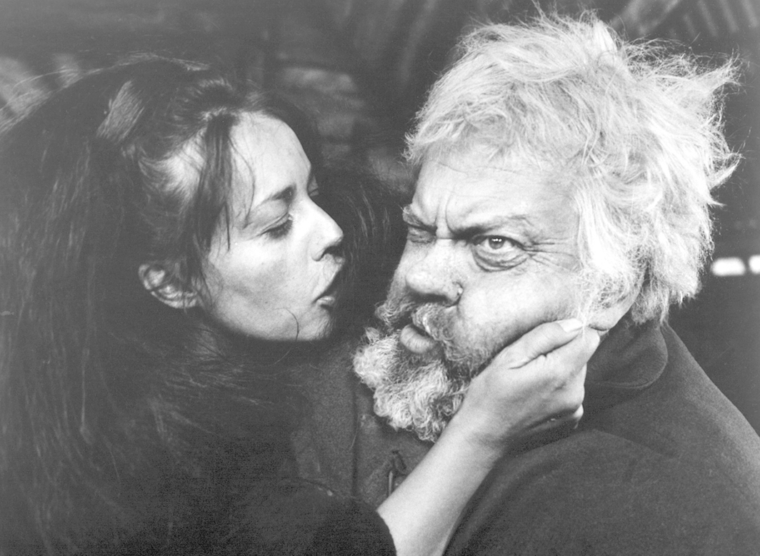 Orson Welles, Chimes at Midnight, 1965, 35 mm, black-and-white, sound, 115 minutes. Doll Tearsheet and Falstaff (Jeanne Moreau and Orson Welles).