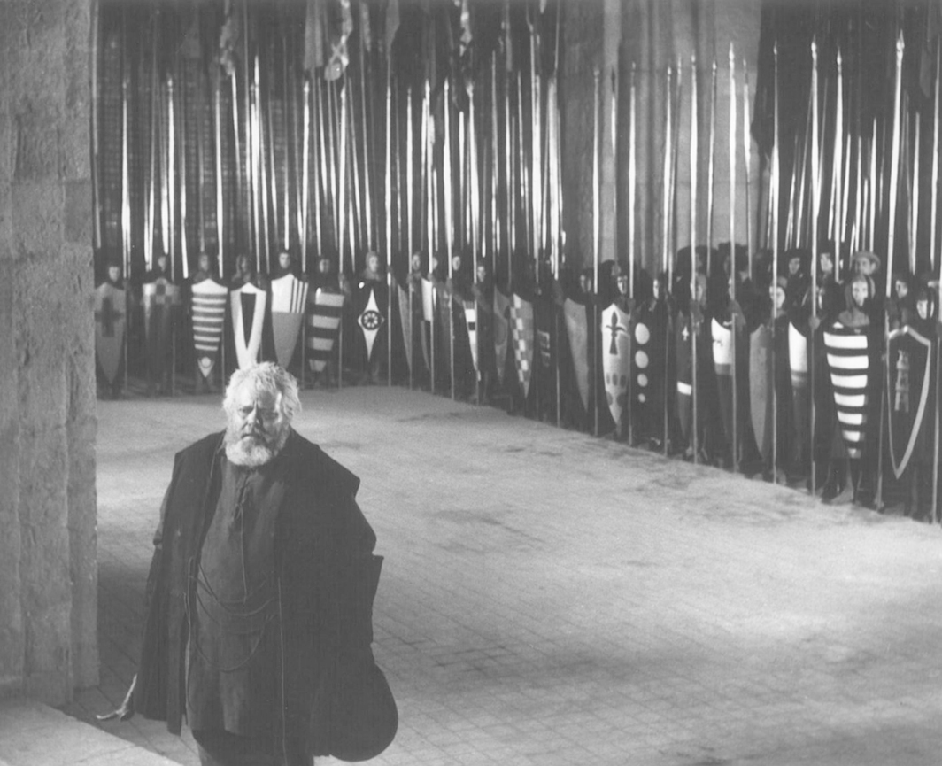 Orson Welles, Chimes at Midnight, 1965, 35 mm, black-and-white, sound, 115 minutes. Falstaff (Orson Welles).