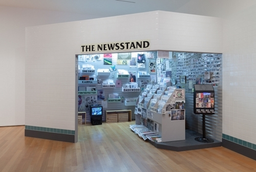 Lele Saveri, The Newsstand, 2013–14, mixed-media installation, dimensions variable.