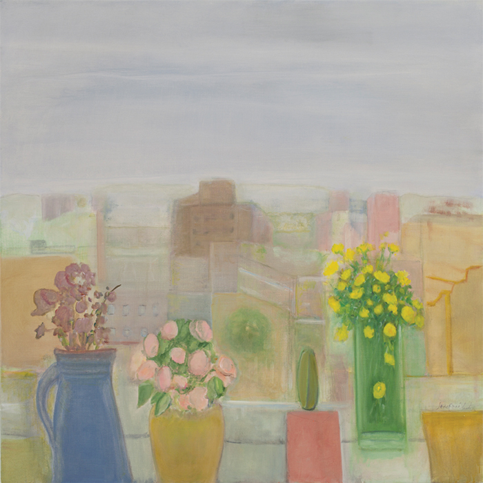 "Jane Freilicher, Window, 2011, oil on linen, 32 × 32""."
