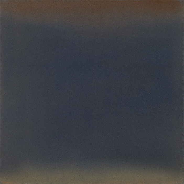 "Inge Krause, Untitled, 2015, pastel chalk on canvas, 11 3/4 × 11 3/4""."