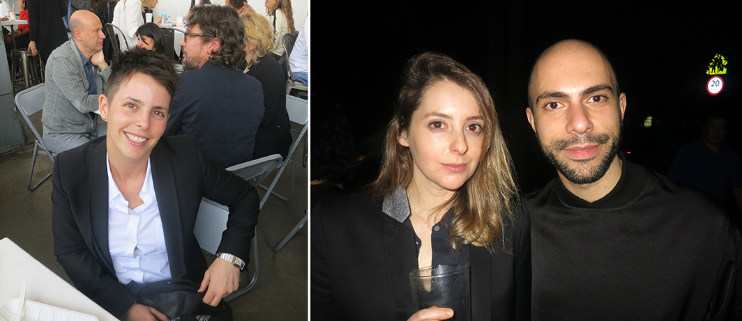 Left: Dealer Jessica Silverman. Right: Dealers Hannah Hoffman and Felipe Dmab.