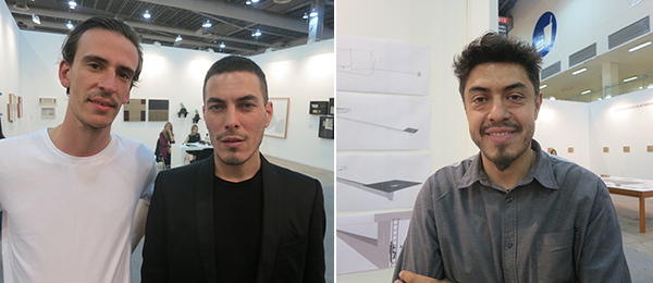Left: Artists Bruno Gruppalli and Federico Lanzig. Right: Artist Miguel Monroy.